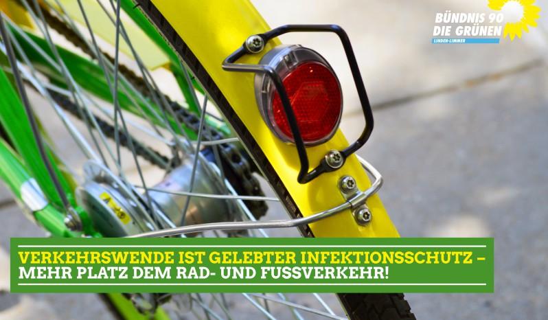 Verkehrswende ist gelebter Infektionsschutz – Mehr Platz für Rad- und Fußverkehr!