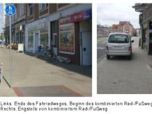 Situation am Schwarzen Bären stadteinwärts