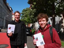 Bezirksratsherren Daniel Gardemin und Steffen Mallast